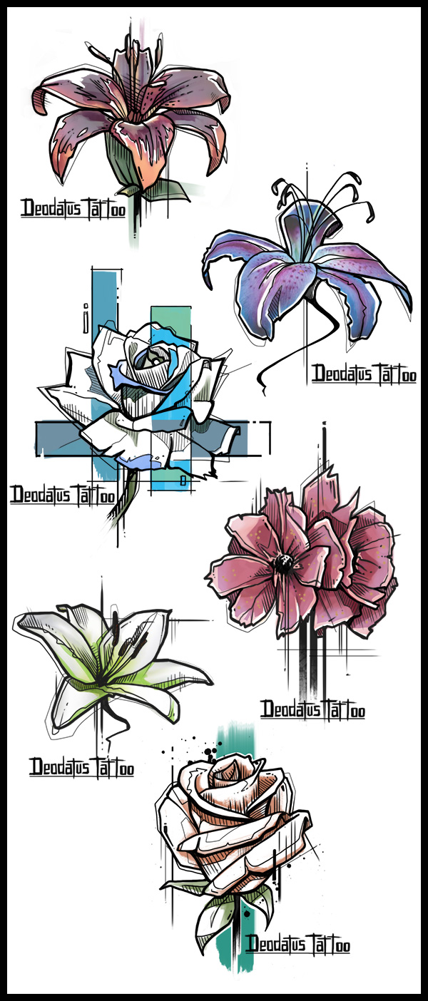 Tattoo Flower Designs