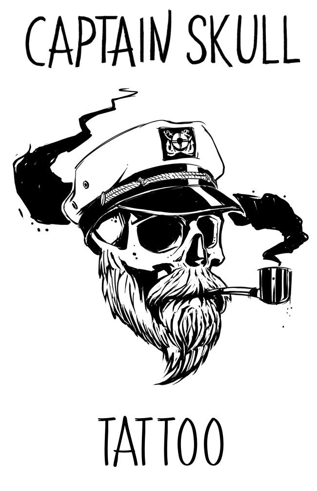 Captain Skull Tattoo