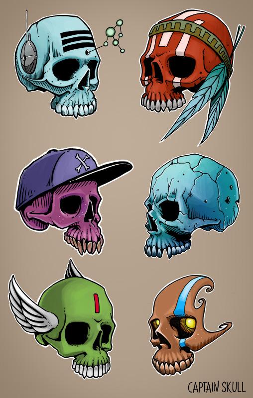 6 little skulls