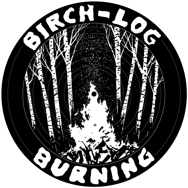 Birch Log Burning