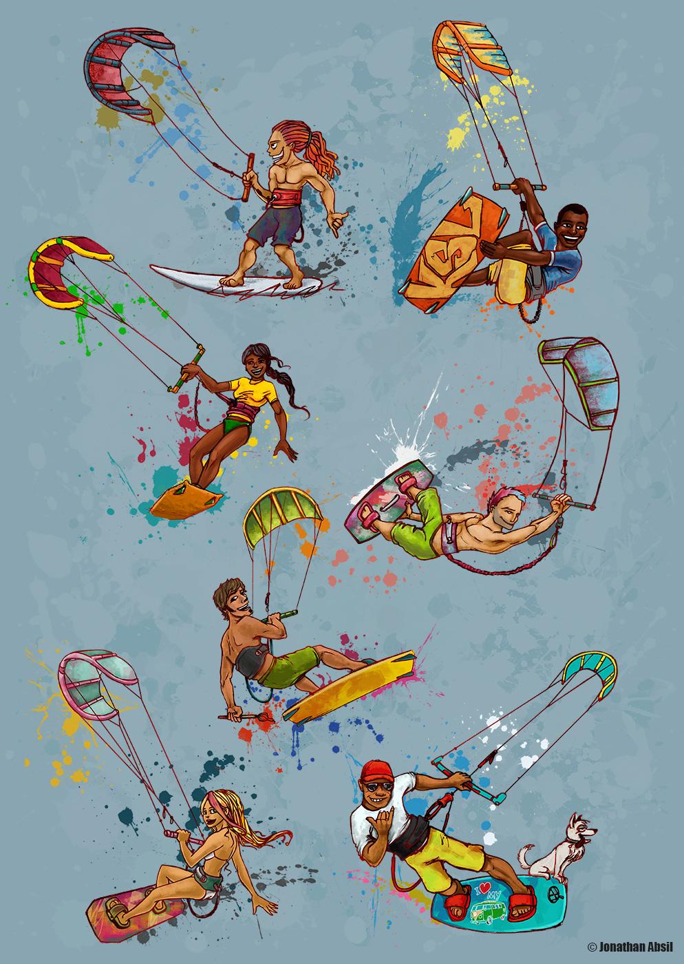 Kitesurfing Lanka promo graphics