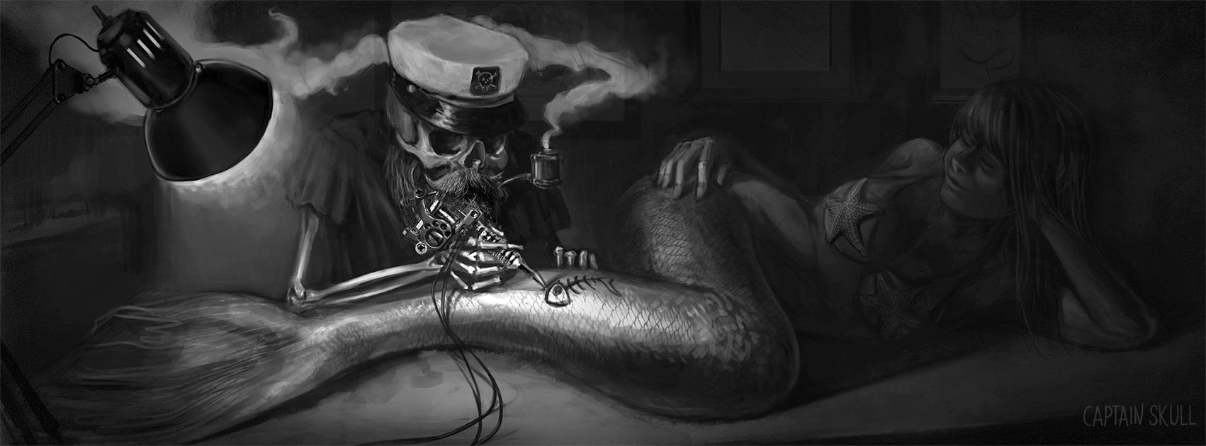Cpt. Skull working